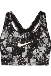 Nike Pro Classic Printed Dri Fit Stretch Sports Bra Black