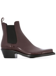 Calvin Klein 205W39nyc Logo Plaque Boots Brown