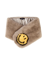 Anya Hindmarch Smiley Face Mink Stole