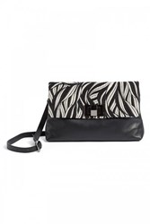 Wtr Amanda Black Jacquard Pattern Clutch Bag