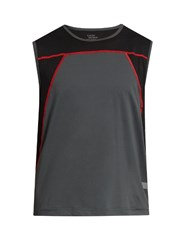 Every Second Counts Flex Round Neck Performance Tank Top Black Multi