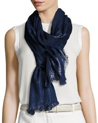 Loro Piana Duo Crystal Metallic Stole Blue