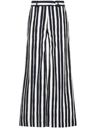 Martin Grant Striped Palazzo Trousers Blue