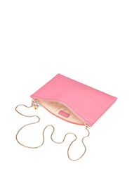 Aspinal Of London Soho Clutch In Smooth Blossom Pink