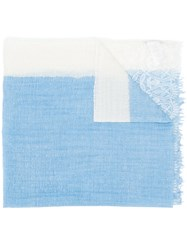 Ermanno Scervino Panelled Lace Scarf Blue