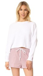 Free People Festival Pier Pullover White