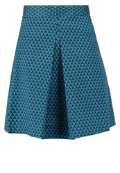 Louche Dayana Aline Skirt Navy Green Dark Blue