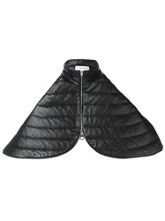 J.W.Anderson Quilted Zip Capelet Black