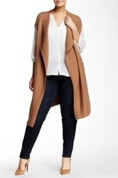Nic Zoe Harmony Vest Plus Size Brown