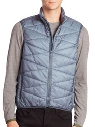 Orlebar Brown Quilted Zip Front Vest Grey