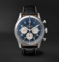 Breitling Navitimer 8 B01 Chronograph 43Mm Stainless Steel And Alligator Watch Blue
