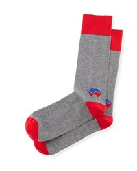 Red Elephant Election Socks Red Gray Men's Jonathan Adler