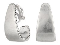 The Sak Large Clip On Hoop Earrings Silver Earring