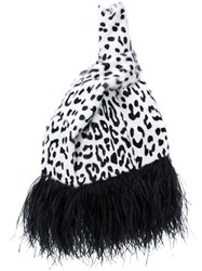 Simonetta Ravizza Furrissima Feather Tote White