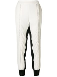 Karl Lagerfeld Zip Front Track Pants White