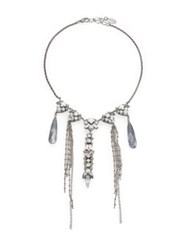 Erickson Beamon Milky Way Crystal Strand Necklace Silver