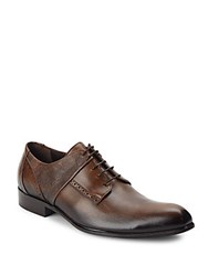 Jo Ghost Mixed Leather Derby Shoes Brown