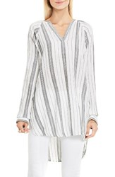 Vince Camuto Women's Two By Stripe Cotton Gauze Tunic