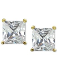 Giani Bernini Cubic Zirconia Square Stud Earrings In 18K Gold Plated Sterling Silver Created For Macy's