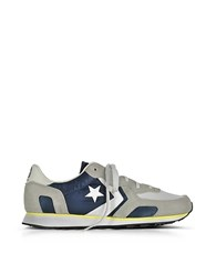 Converse Limited Edition Auckland Racer Distressed Ox Athletic Navy Ghost Gray And Buff Men's Sneakers Blue