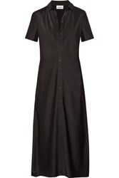 Dkny Satin Shirt Dress Black