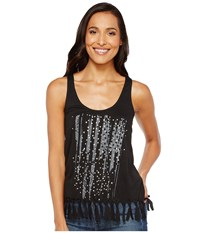 Roper 1133 Poly Rayon Boyfriend Fit Tank Top Black Women's Sleeveless