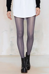 Nasty Gal Look From London Stripe Right Pinstripe Tights