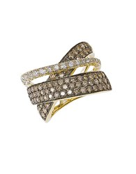 Le Vian Diamond And 14K Gold Crossed Band