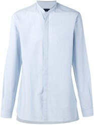 Lanvin Mandarin Collar Shirt Blue