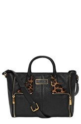 Alexander Mcqueen 'De Manta' Leather And Genuine Calf Hair Tote