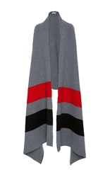 Tomas Maier Oversized Scarf With Stripe Detail Grey
