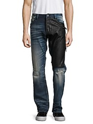 Cult Of Individuality Six Pocket Distressed Two Tone Denim Pants Combo