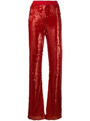 Patrizia Pepe High Waist Sequin Embellished Trousers 60