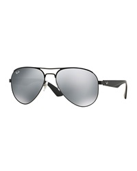 Ray Ban Aviator Sunglasses With Mirrored Lenses
