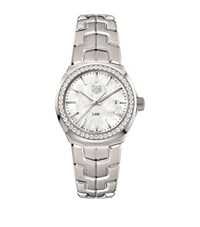 Tag Heuer Link Ladies Diamond Mother Of Pearl Watch Unisex White