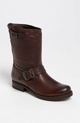 Women's Frye 'Veronica Shortie' Slouchy Boot Dark Brown Leather