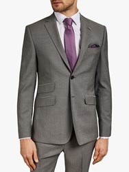 Ted Baker Whitbe Wool Tailored Suit Jacket Grey