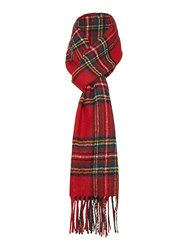 Gloverall Lambswool Scarf Red