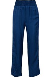 Maggie Marilyn Change The Rules Striped Satin Twill Track Pants Cobalt Blue