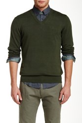 Ben Sherman V Neck Knit Pullover Green