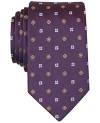 Bar Iii Basil Neat Slim Tie Only At Macy's Burgundy