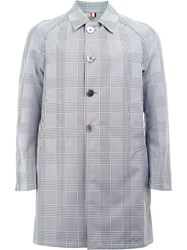 Thom Browne Reversible Checked Coat Grey