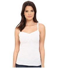 Michael Stars Shine Cami W Ruched Front White Women's Sleeveless