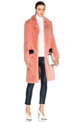 Shrimps Claude Faux Fur Coat In Pink