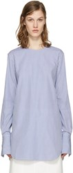 Studio Nicholson Blue Striped Dante Blouse