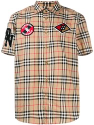 Burberry Vintage Check Patch Short Sleeve Shirt 60