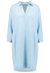 Soaked In Luxury Dalina Summer Dress Light Blue Denim