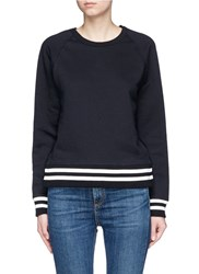 Rag And Bone 'Classic Varsity' Side Split Sweatshirt Black