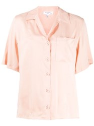 Equipment Short Sleeve Shift Blouse Pink