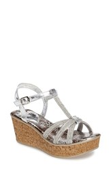 Love And Liberty Women's Caron Crystal Embellished Platform Wedge